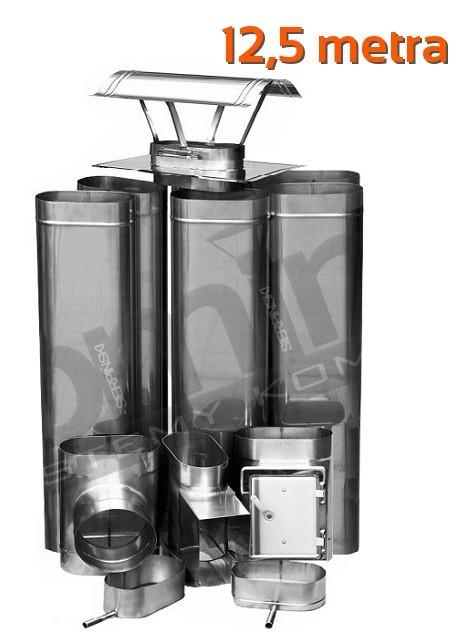 Zaawansowane Wkład kominowy kwaso-żaroodporny Owalny 12,5 metra wysokości YS04